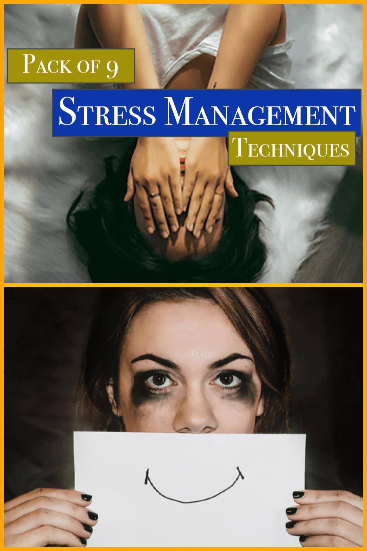 Stress Management Techniques Bundle: 9 Courses - MasterBundles - Pinterest Collage Image.