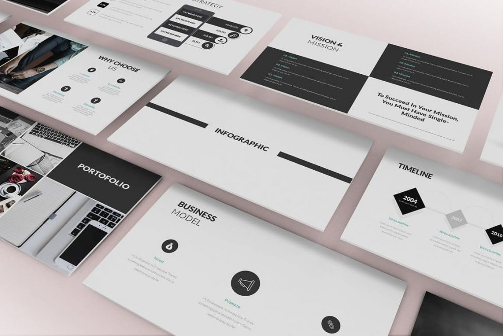 Infographic Pitch Deck Powerpoint Template.