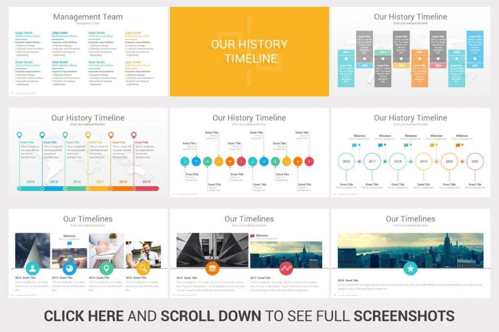 History Timeline Investors PowerPoint Pitch Decks.