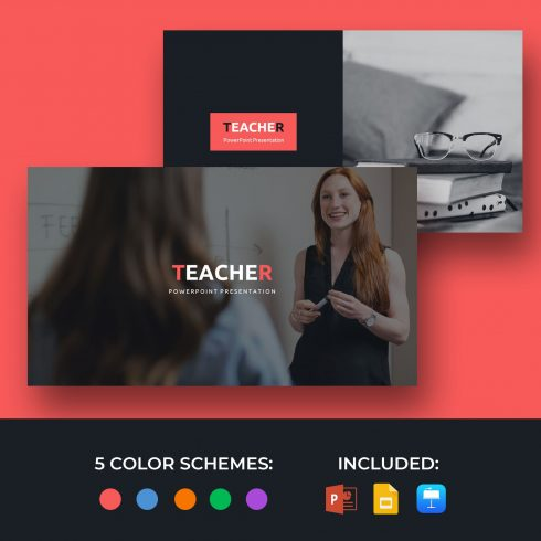 50 Slides Teacher Presentation Template 2021: Powerpoint, Google Slides & Keynote.