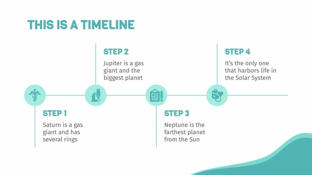 Slide with a visual timeline.