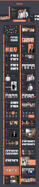 Slides Team Dark theme. Pitch Deck & Presentation V3.0.