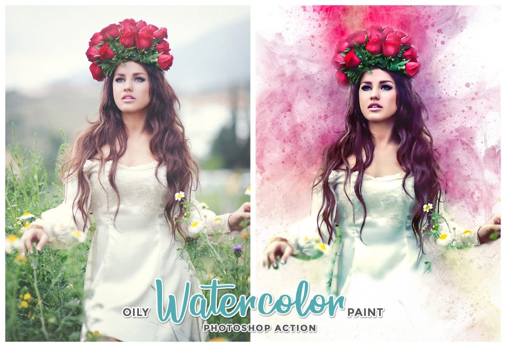 Oil watercolor paint for Photoshop. Modern Art Painting.