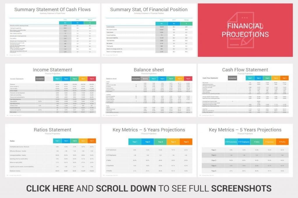 Financial Projections Investors PowerPoint Pitch Decks.