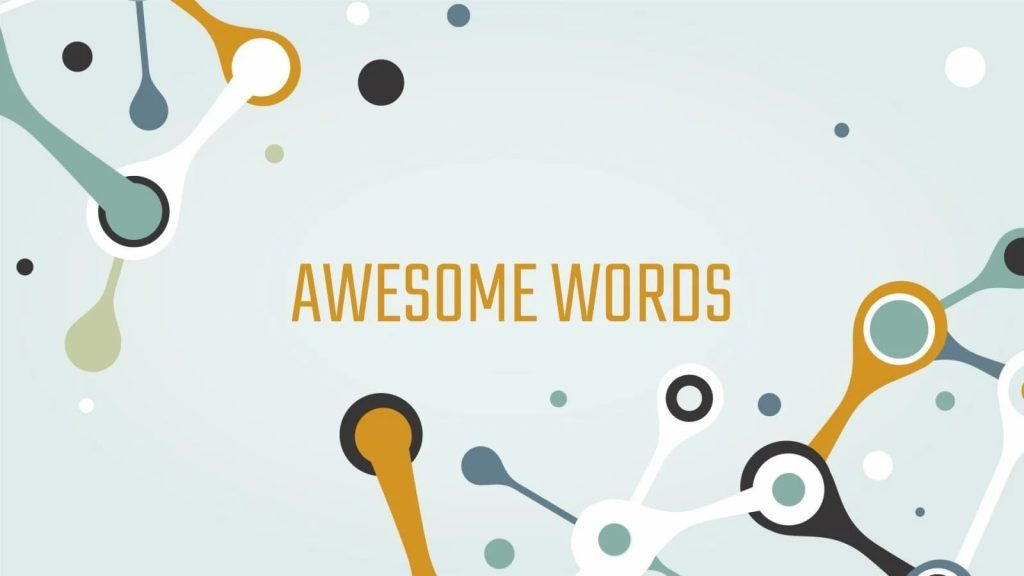 Awesome words. Free Science Fair Newsletter Powerpoint Template.