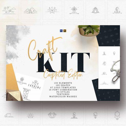 Craft Kit: Logo templates, Shapes, Elements.