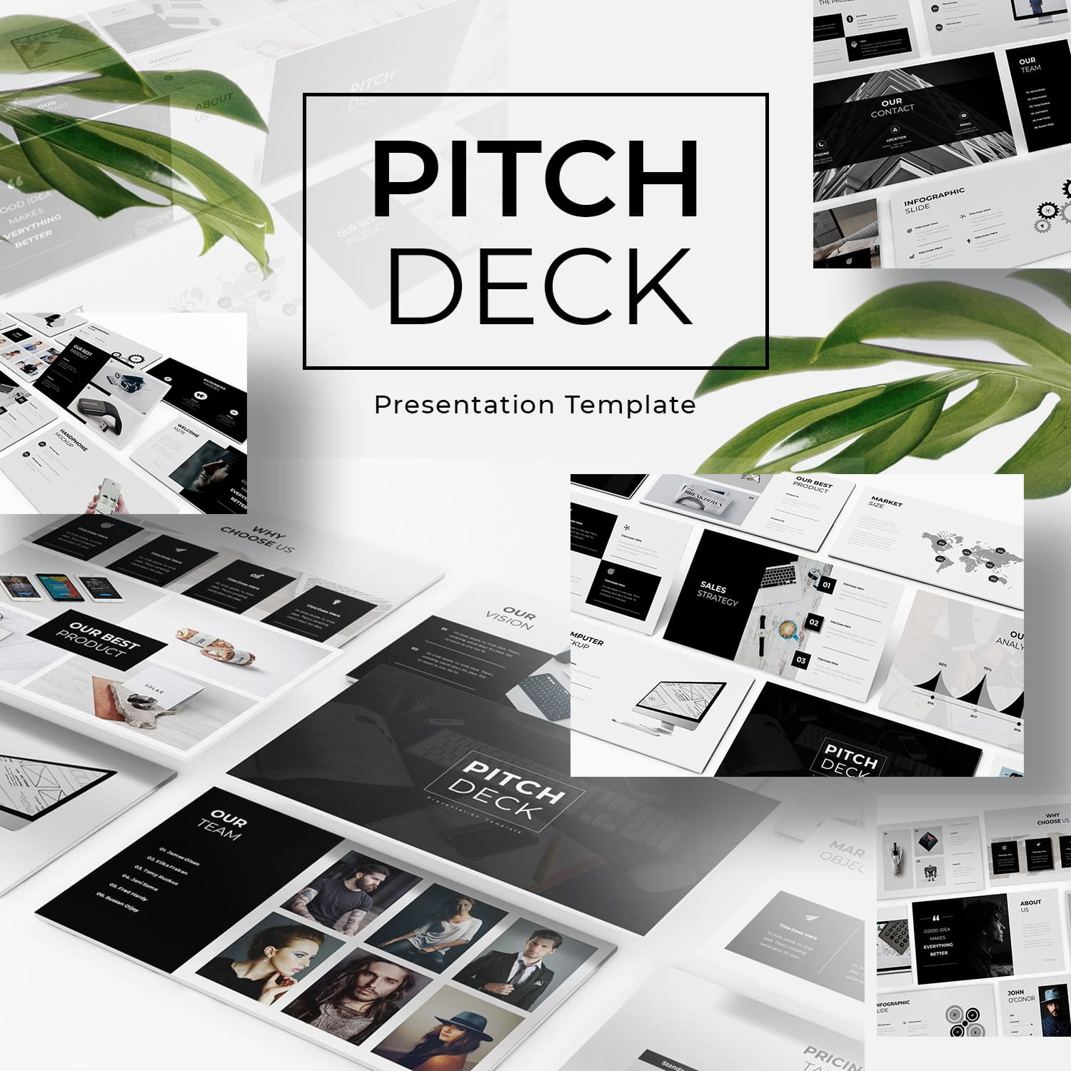 Pitch Deck Powerpoint Template by MasterBundles.