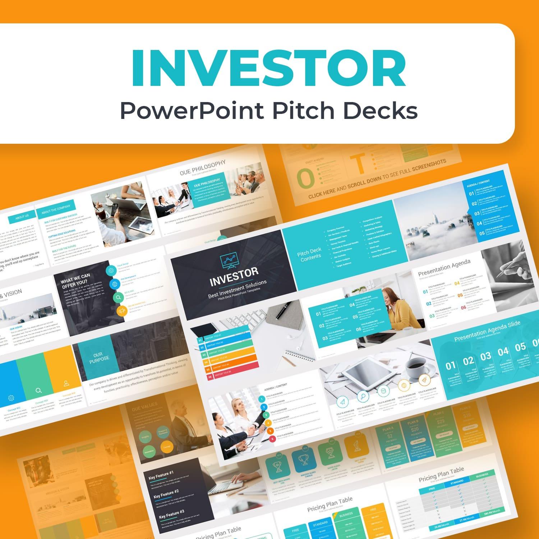 Investors PowerPoint Pitch Decks by MasterBundles.