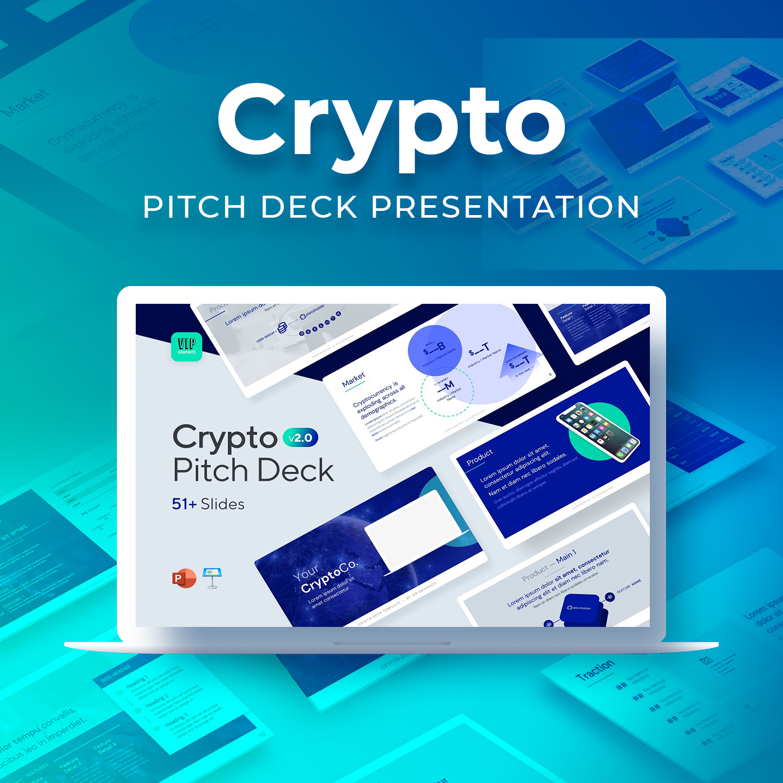 Crypto Pitch Deck Presentation by MasterBundles.