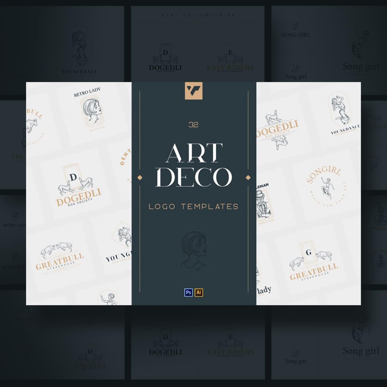 32 Art Deco Logo Templates.
