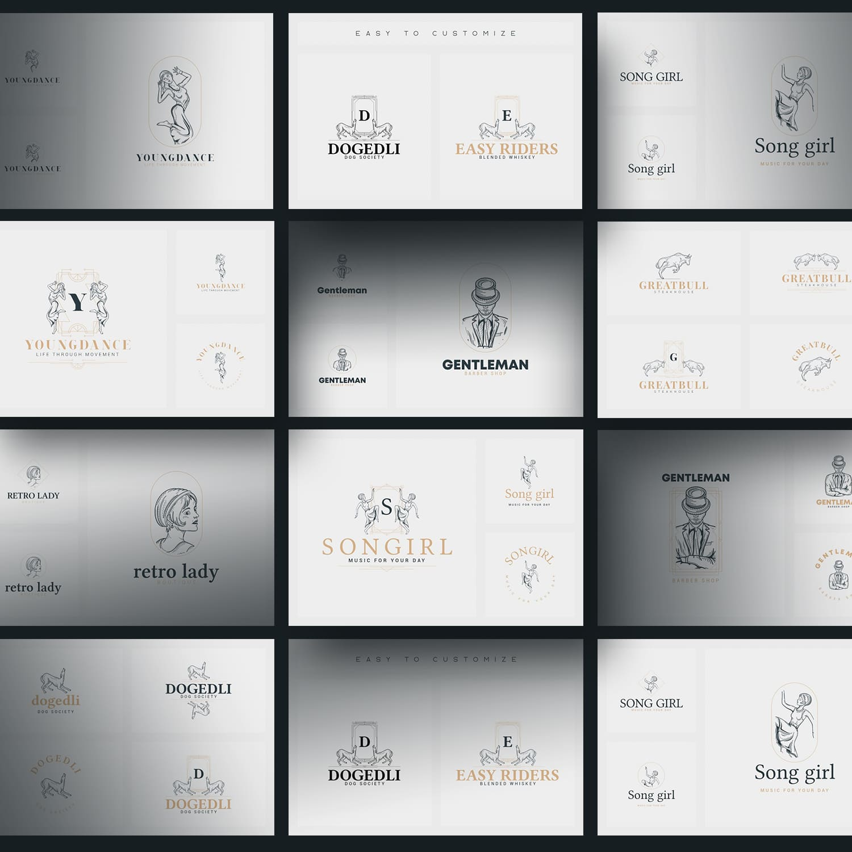 32 Art Deco Logo Templates by MasterBundles.
