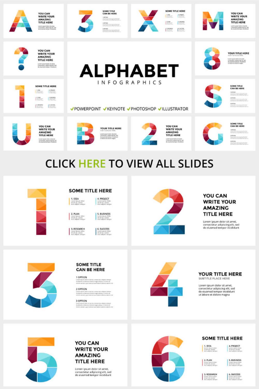 ALPHABET - Infographic Slides - MasterBundles - Pinterest Collage Image.