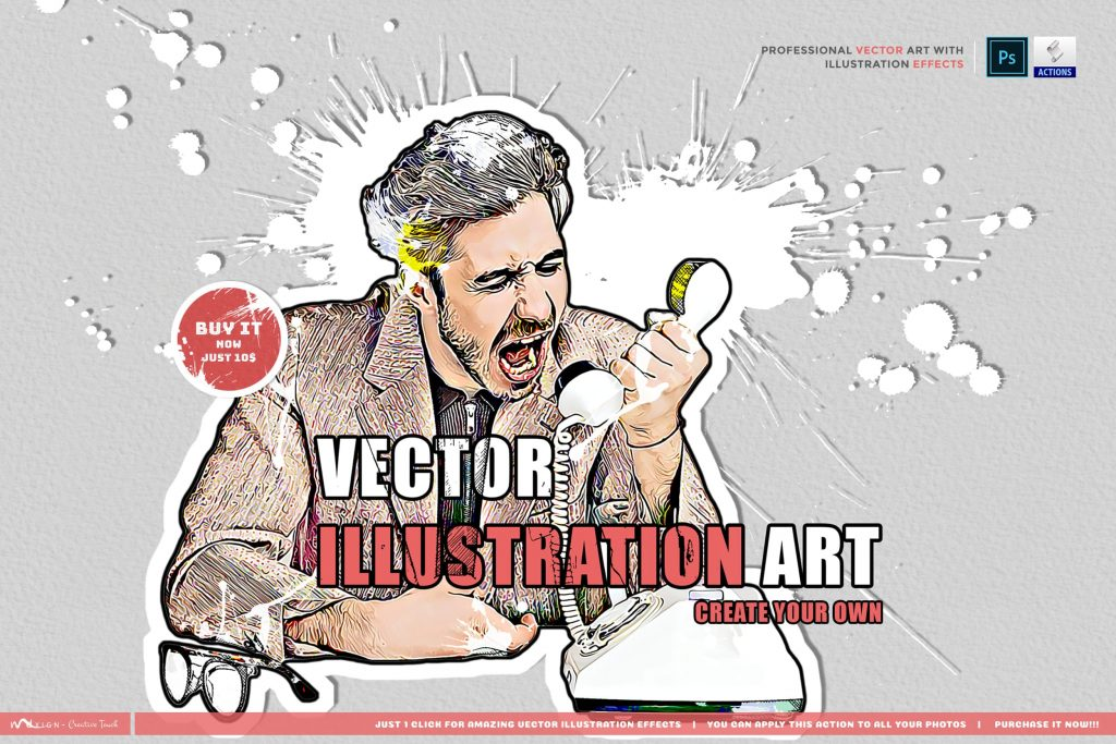 Vector Illustration Art. Modern Art Painting.