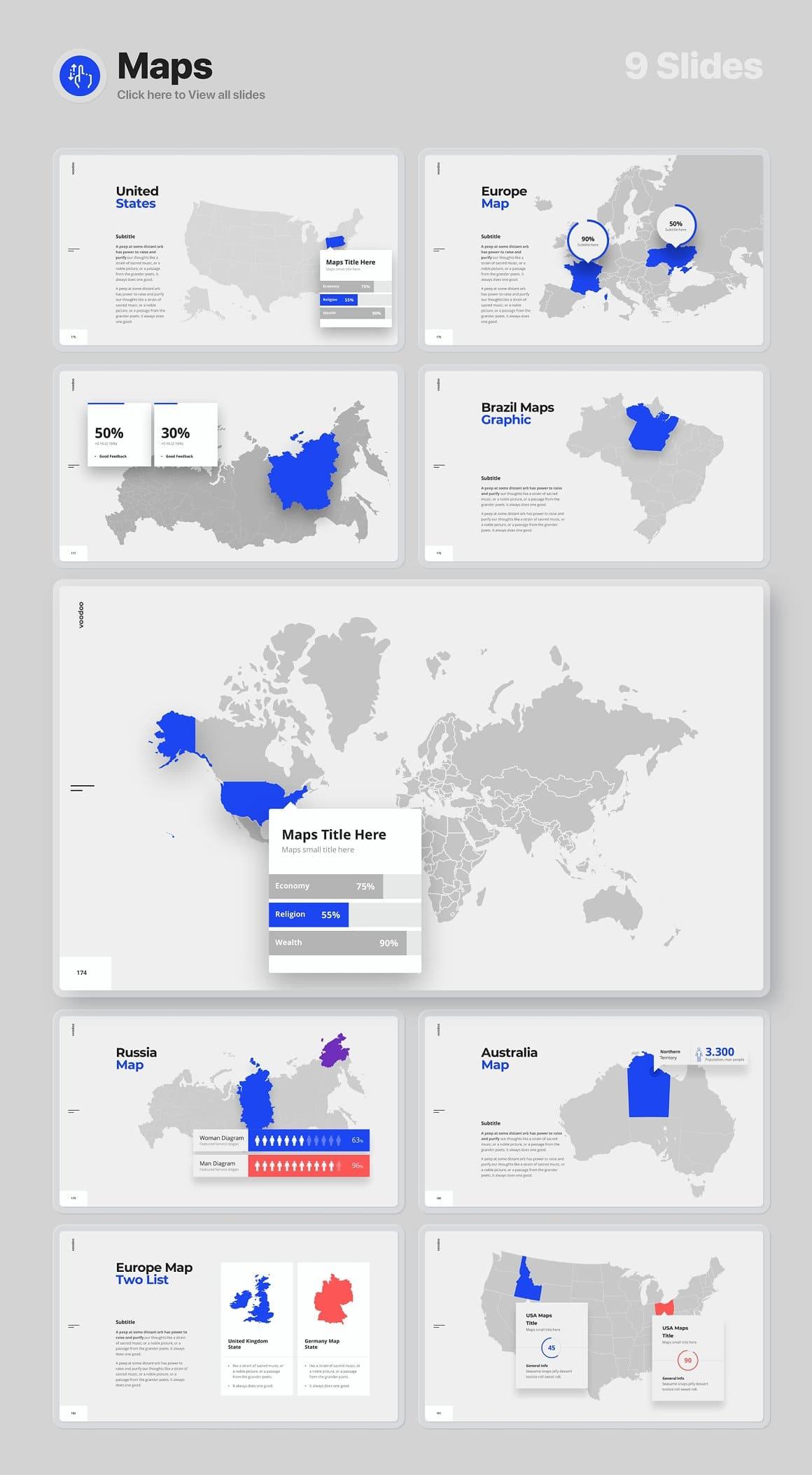 9 Slides Maps Voodoo Presentation 4.0.