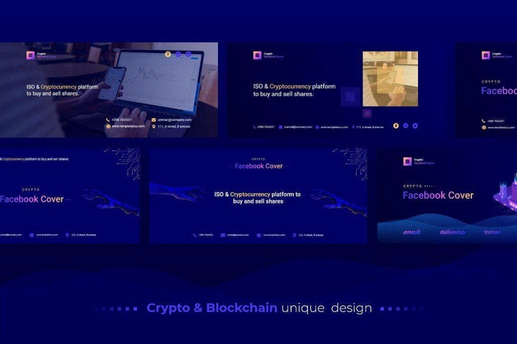 Crypto Facebook Cover Unique Design.