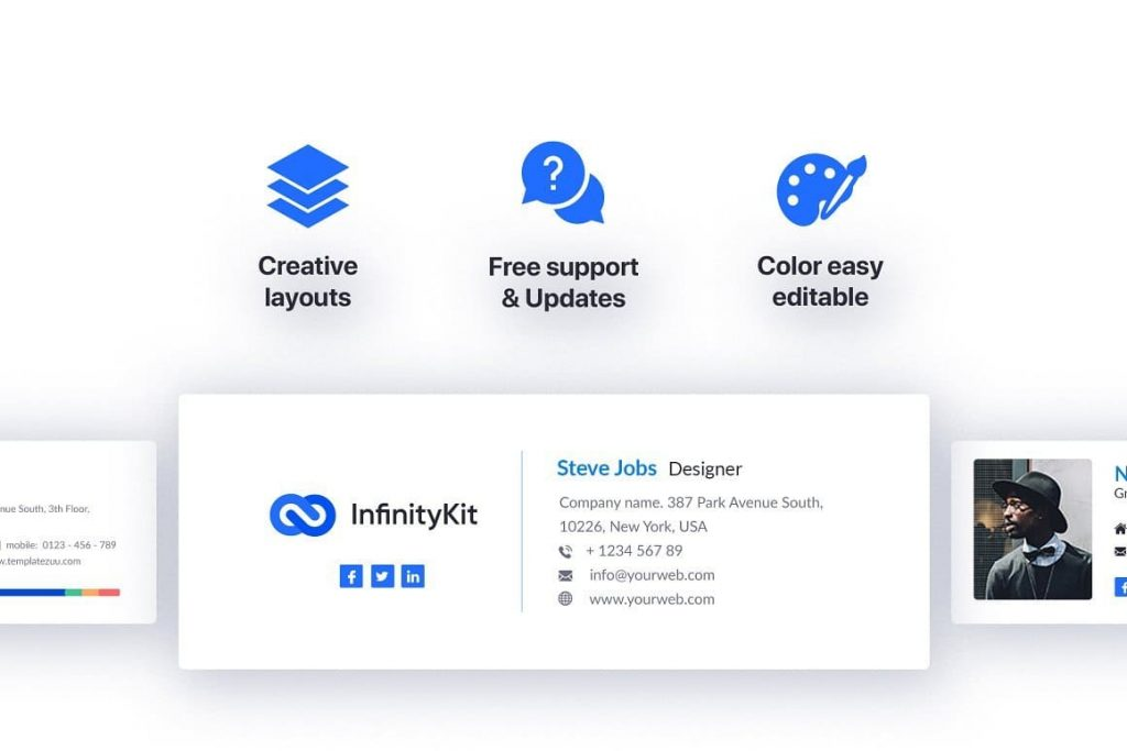Features of InfinityKit Email Signature v1.3.