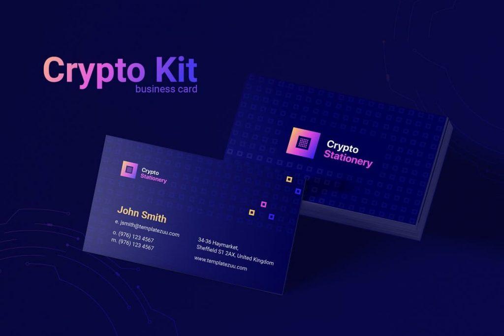 Business card Crypto Stationary.