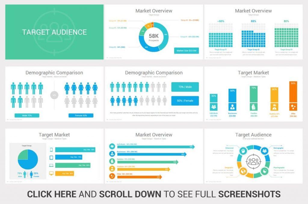 Target Audience Investors PowerPoint Pitch Decks.