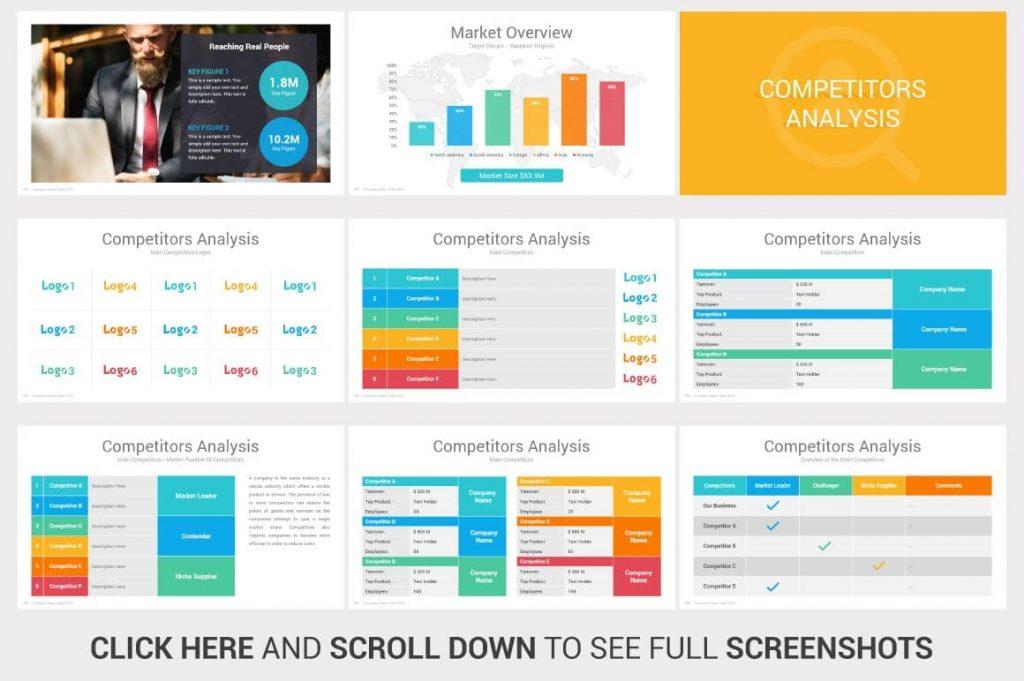 Competitors Analysis Investors PowerPoint Pitch Decks.