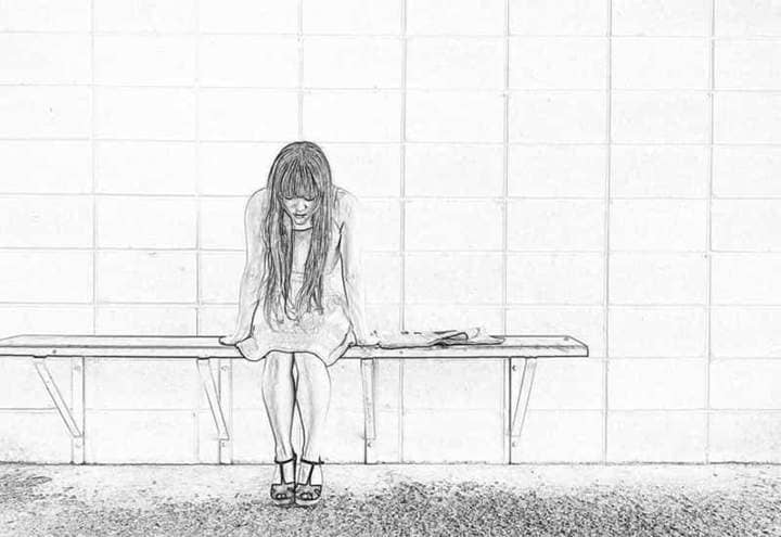 Sadness Sketch Effect Photoshop.