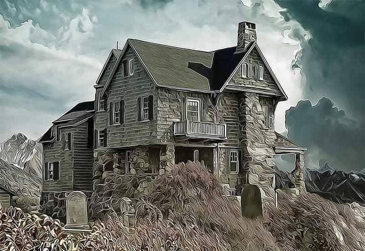 Old Castle The Oil Canvas Photoshop.