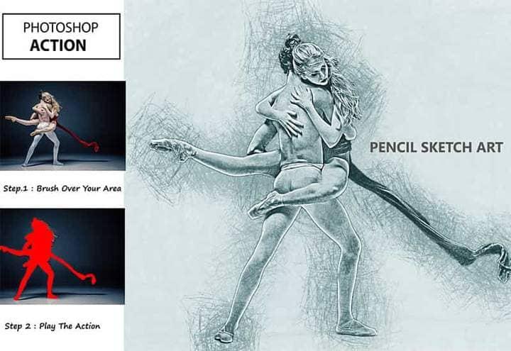 Dance Sketch Effect Photoshop.