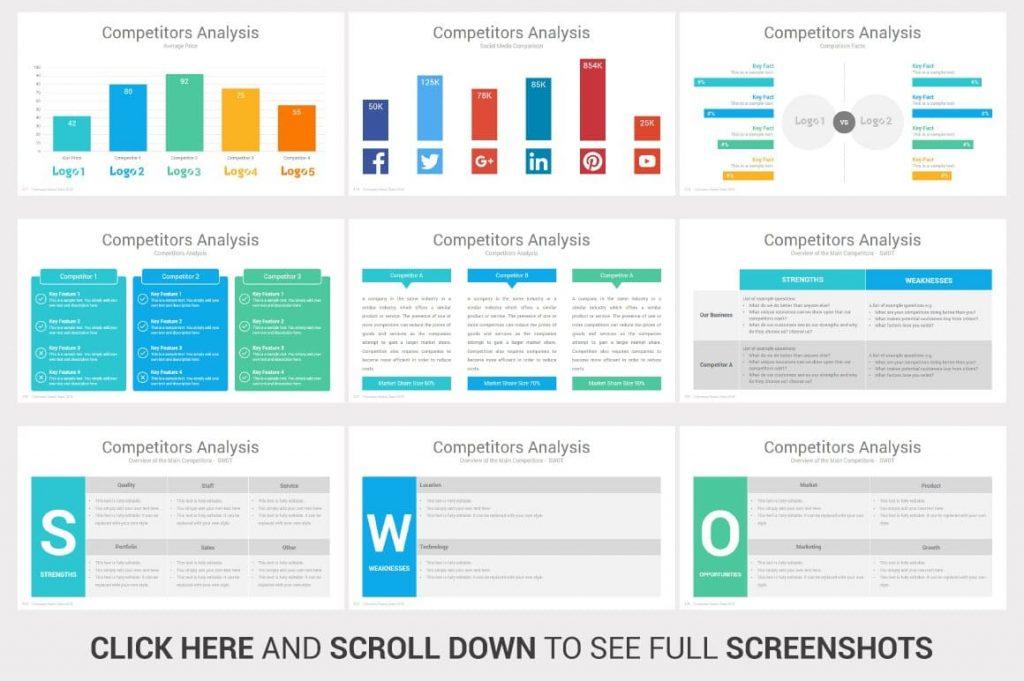 Slides Competitors Analysis Investors PowerPoint Pitch Decks.