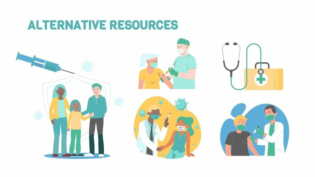 Alternative resources. Free Vaccination Thesis Defense Powerpoint Template.
