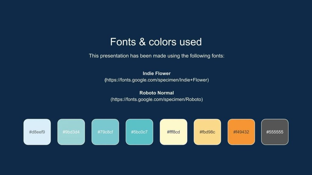 Here you can select and use color schemes for your presentation.