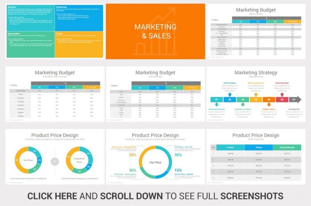 Marketing & Sales Investors PowerPoint Pitch Decks.