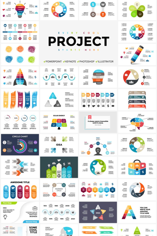 171 Killer Infographics for Your Project - MasterBundles - Pinterest Collage Image.