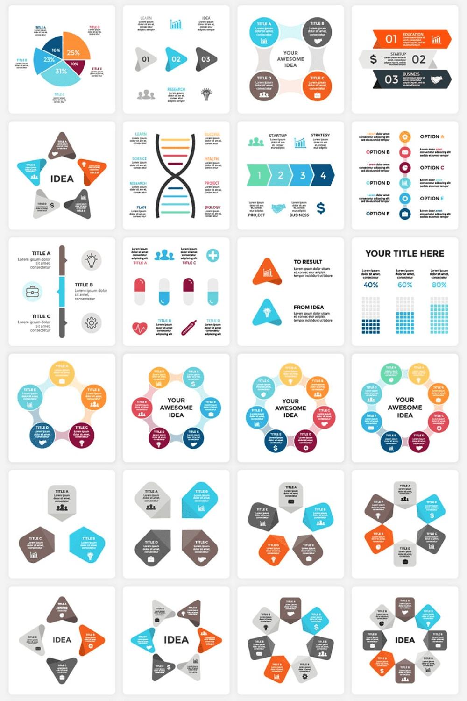 340  Financial Infographics Bundle - MasterBundles - Pinterest Collage Image.