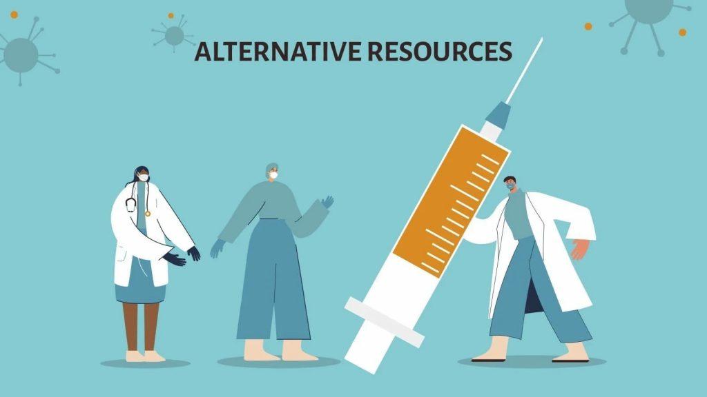 Alternative resources. Slide 2. Presentation of COVID-19 Vaccine Breakthrough.
