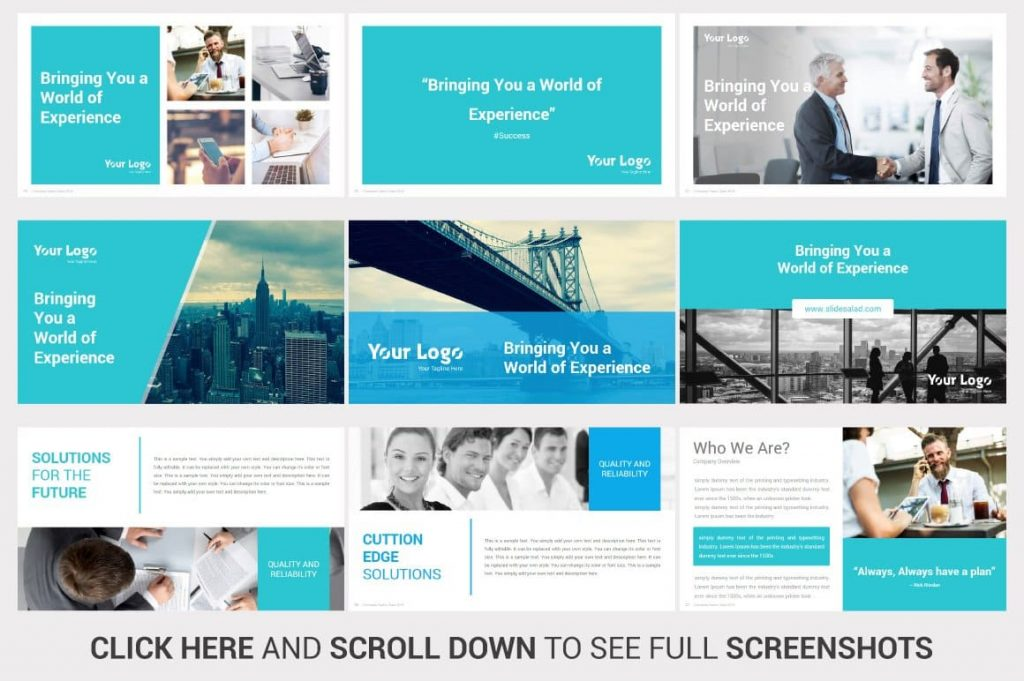 Slides Bringing you a world of experience Investors PowerPoint Pitch Decks.