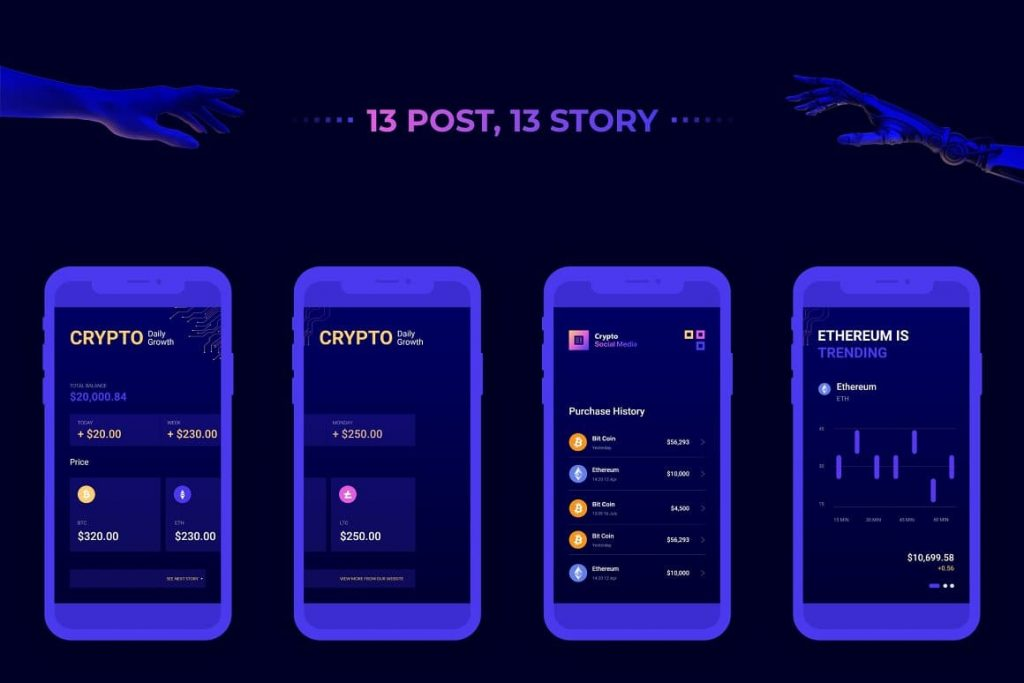 13 Posts and Stories by Crypto Social Media.