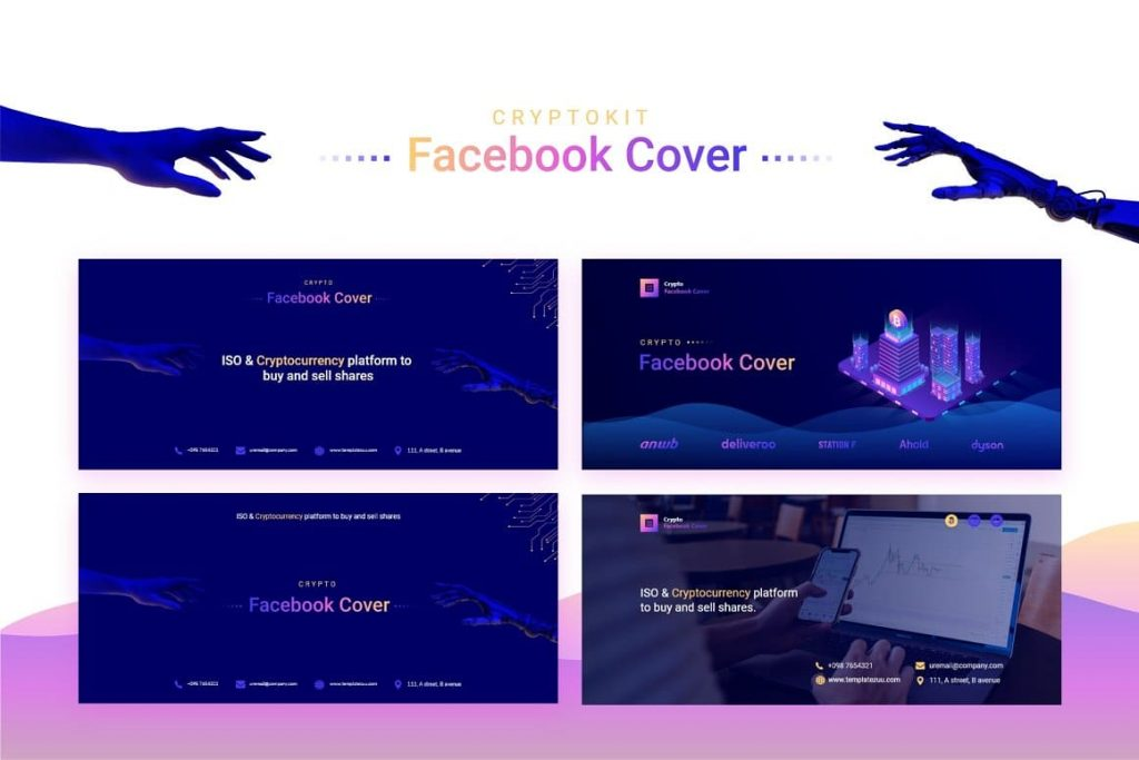 Preview of Crypto Facebook Cover.