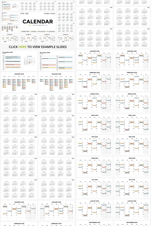 136 Calendar Slides: PPT, PPTX, KEY, PSD, EPS, AI - MasterBundles - Pinterest Collage Image.