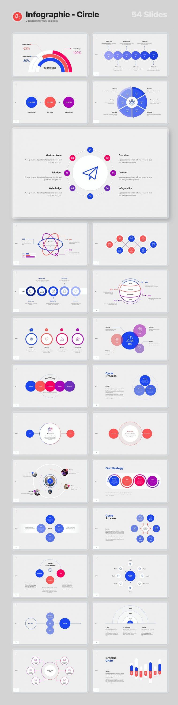 54 Slides Infographics - circle Voodoo Presentation 4.0.