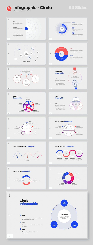 Slide Preview Infographics - circle Voodoo Presentation 4.0.