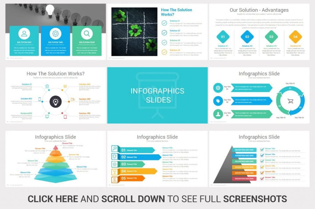 Infographics Slides Investors PowerPoint Pitch Decks.