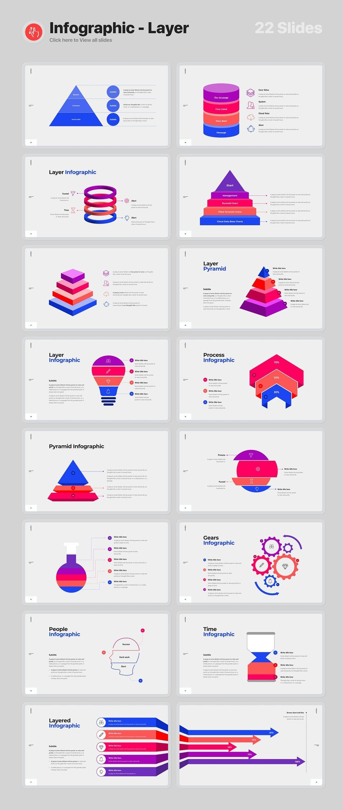 22 Slides Infographic - Layer Voodoo Presentation 4.0.