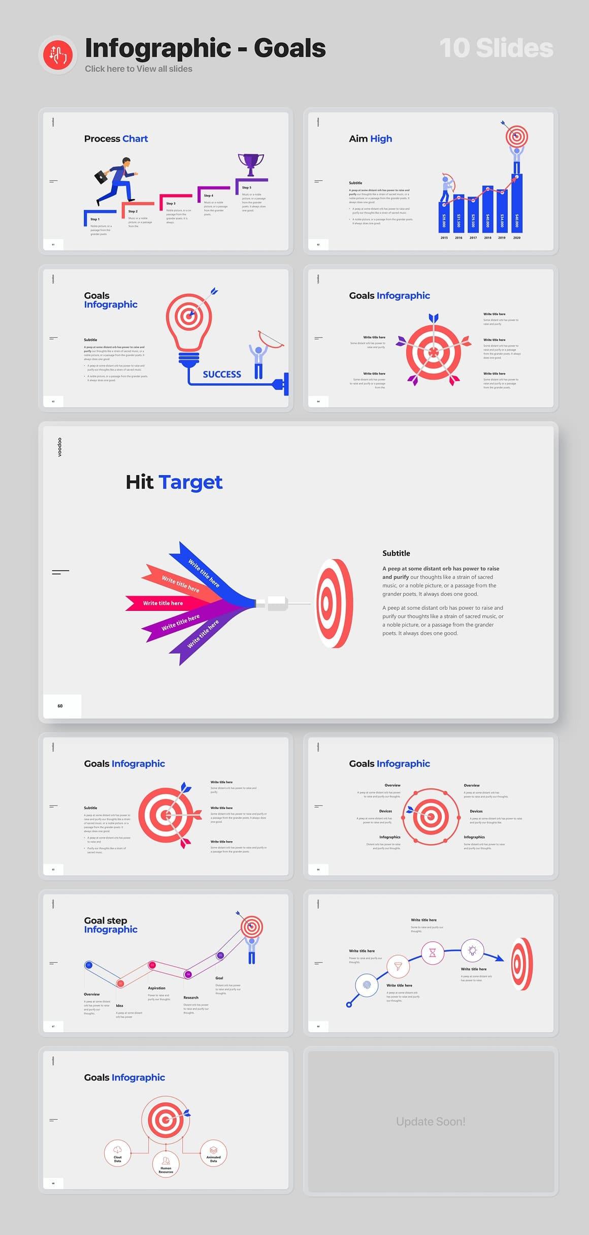 10 Slides Infographics - Goals Voodoo Presentation 4.0.