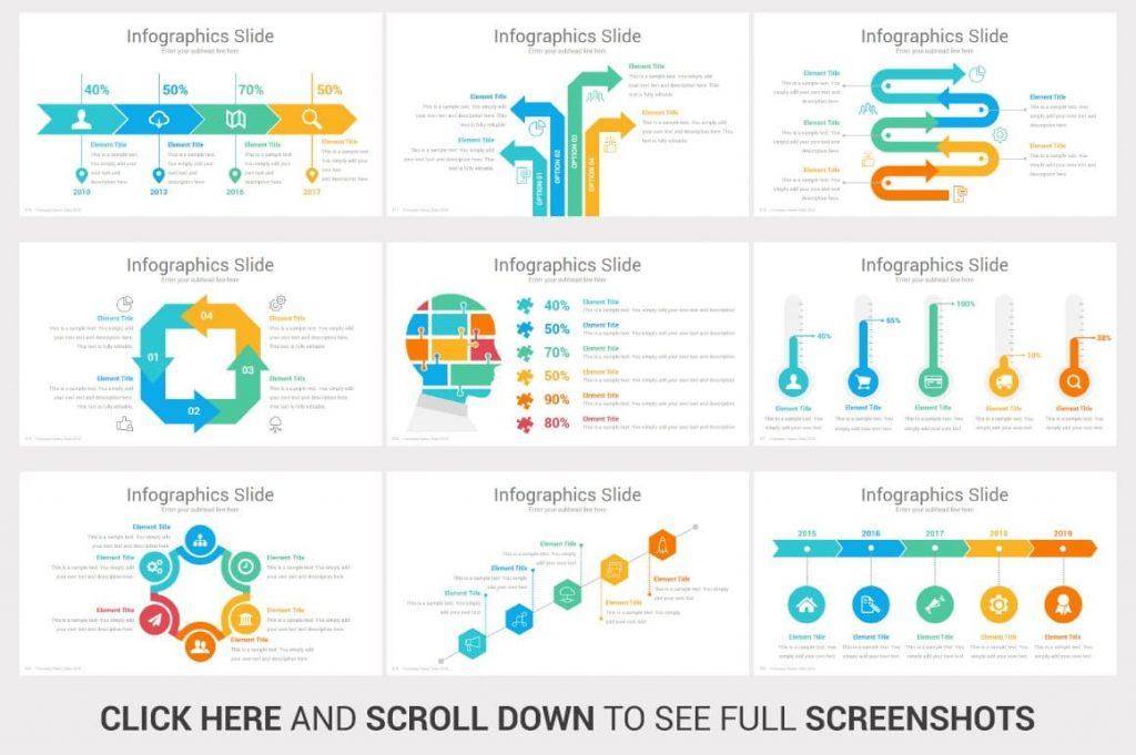 Infographics Investors PowerPoint Pitch Decks.
