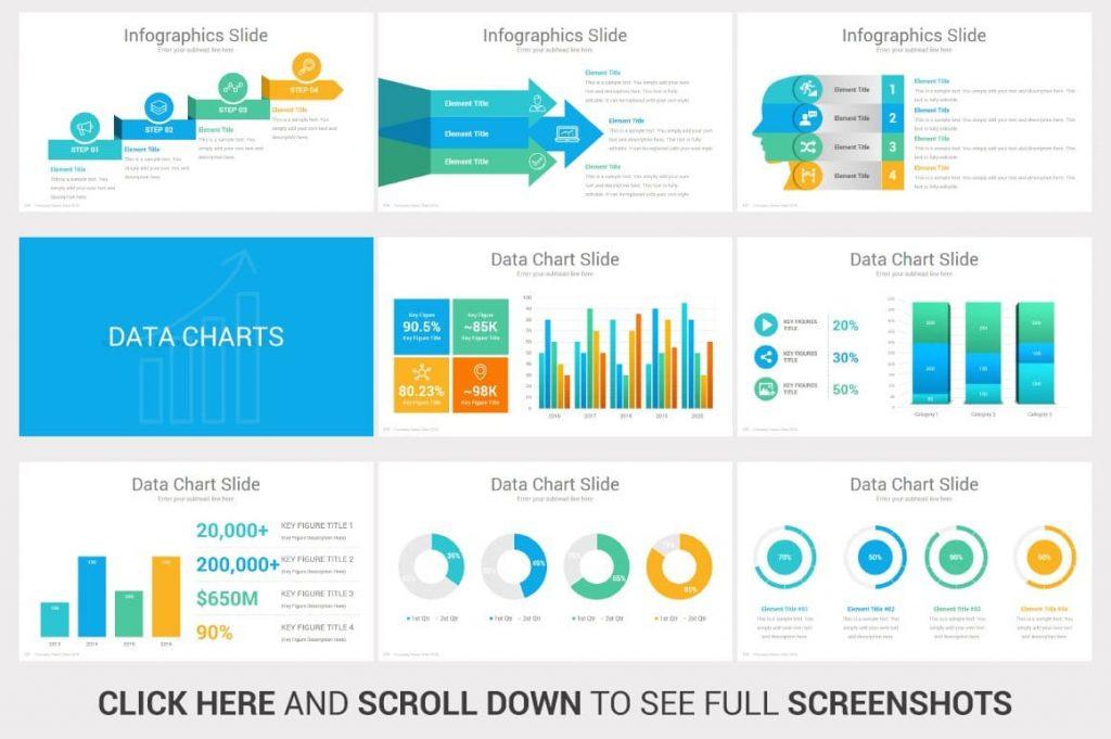Data Charts Investors PowerPoint Pitch Decks.
