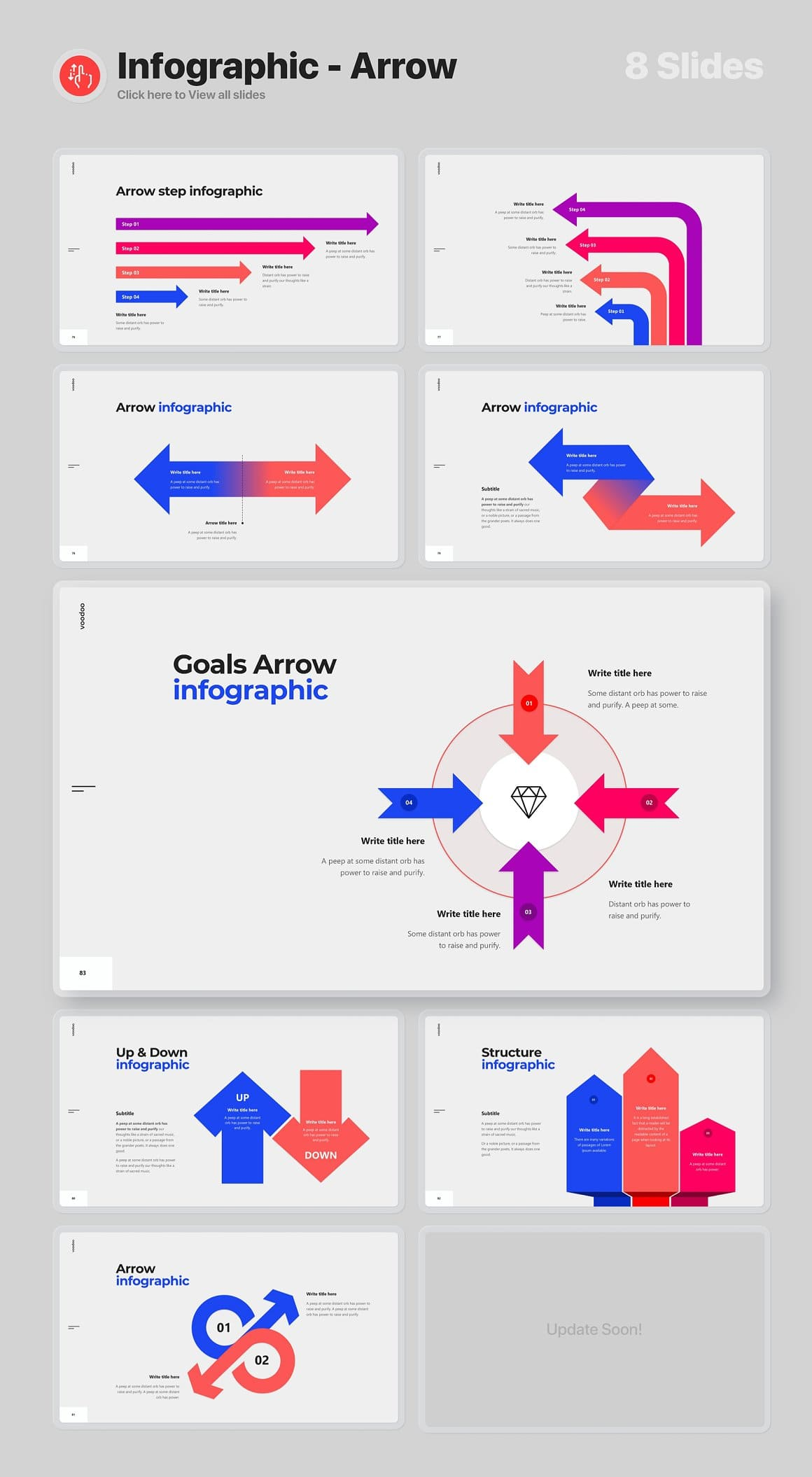 8 Slides Infographic - Arrow Voodoo Presentation 4.0.