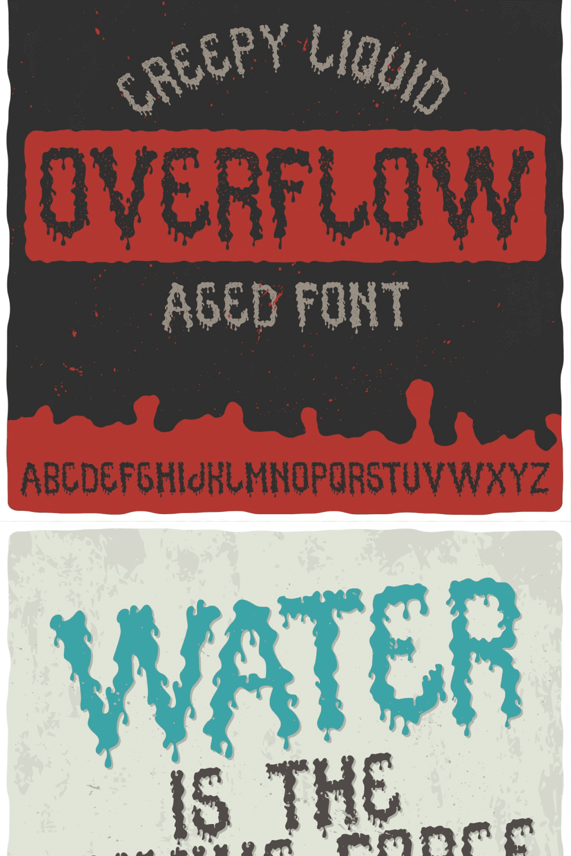 Overflow Typeface - MasterBundles - Pinterest Collage Image.
