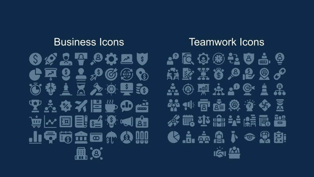 Business and team icons.