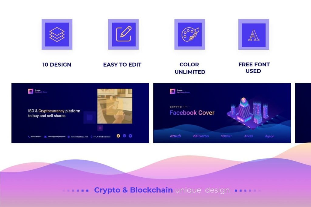 Features Crypto Facebook Cover.