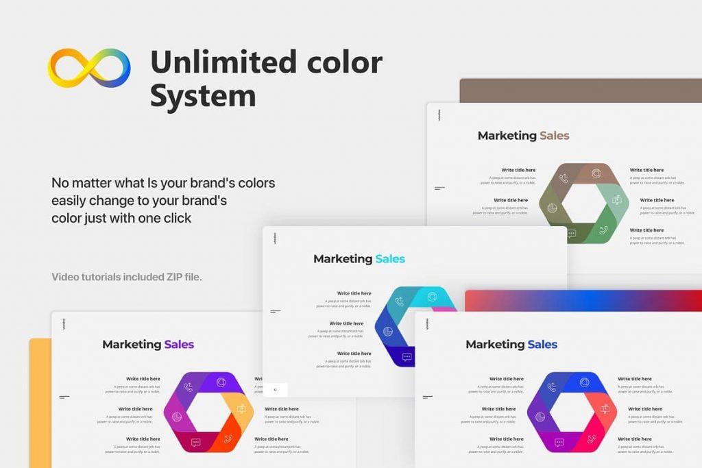 Unlimited color system Voodoo Presentation 4.0.