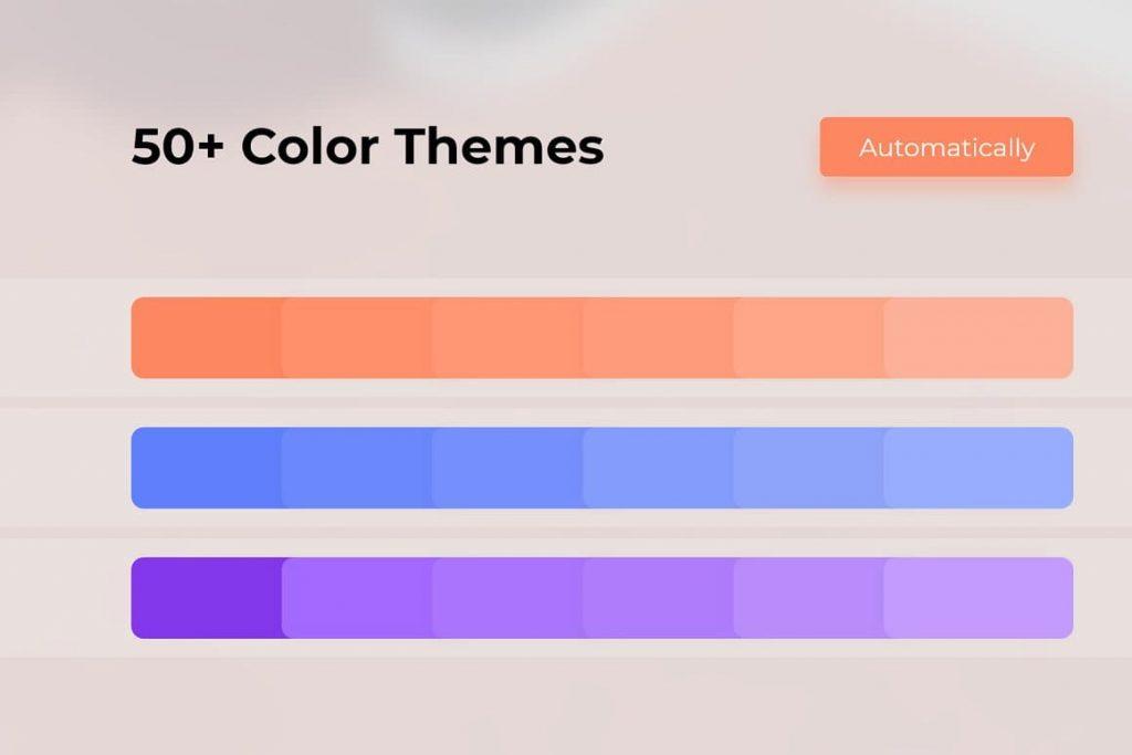 50+ COLOR THEMES Light Theme Pitch Deck & Presentation V3.0.